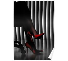 Woman Legs in Red Shoes art photo print Poster