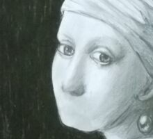Girl with a Pearl Earring Sticker