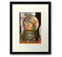 Nativity Snow Globe Framed Print