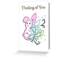 Thinking of You Rabbit Greeting Card