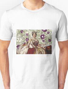 Queen Victoria - White Floral Unisex T-Shirt