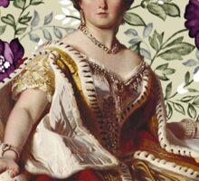 Queen Victoria - White Floral Sticker