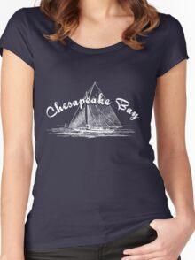 Chesapeake Bay Sailboat Women's Fitted Scoop T-Shirt