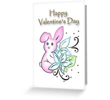 Valentine's Day Bunny Greeting Card