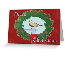 Merry Christmas Greeting Card - Young Seagull Greeting Card