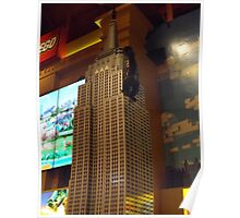 Lego Empire State Building, Toys R Us, Times Square, New York City Poster