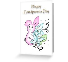 Happy Grandparents Day Bunny Greeting Card