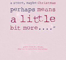 Dr Seuss Christmas Greeting Card by Sarah Cowan