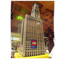 Lego Woolworth Building, Toys R Us, Times Square, New York City Poster