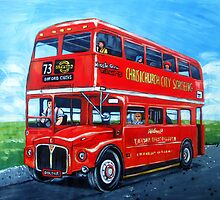 Double Decker London Bus by Ira Mitchell-Kirk