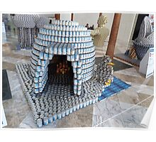 Canstruction, Igloo, Sculpture Made of Food Cans, World Financial Center, New York City Poster