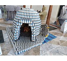 Canstruction, Igloo, Sculpture Made of Food Cans, World Financial Center, New York City Photographic Print