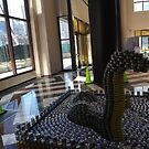 Canstruction, LoCANness Monster, Sculpture Made of Food Cans, World Financial Center, New York City by lenspiro