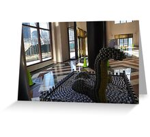 Canstruction, LoCANness Monster, Sculpture Made of Food Cans, World Financial Center, New York City Greeting Card