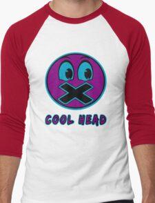 Cool Head Purple And Teal Men's Baseball ¾ T-Shirt