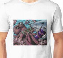 Giant Pacific Octopus versus Great White Shark Unisex T-Shirt