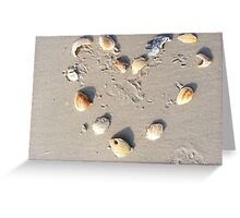 Heart of shells Greeting Card