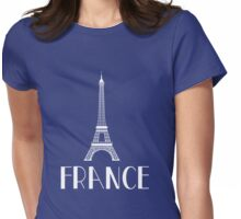 France. Eiffel Tower Womens Fitted T-Shirt