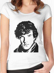 Benjamin Cumberbatch Sherlock Holmes Women's Fitted Scoop T-Shirt