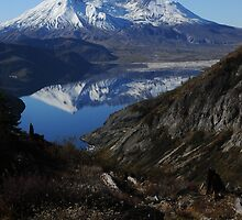 Mt St Helens reflected in Spirit Lake 9273_101913 by Randy Craig (nature & landscape photography)