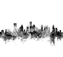 Houston Texas Skyline Photographic Print