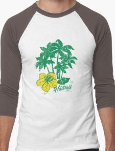 Hawaii Tropical Vintage Men's Baseball ¾ T-Shirt