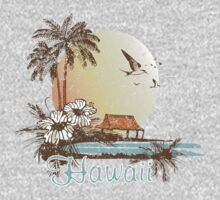 Hawaii Vintage Tropical Scene by whereables