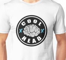 Cool Head Brain Badge Unisex T-Shirt