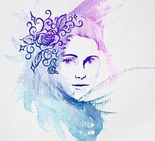 Watercolor Lady by Nicole Hass