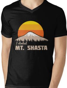 I climbed Mt. Shasta Mens V-Neck T-Shirt