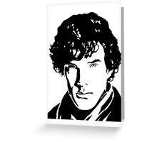 Benjamin Cumberbatch Sherlock Holmes Greeting Card