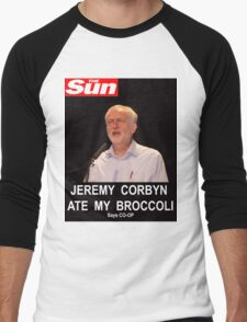 Jeremy Corbyn ate my broccoli Men's Baseball ¾ T-Shirt