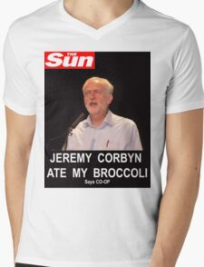 Jeremy Corbyn ate my broccoli Mens V-Neck T-Shirt