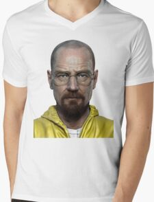 walter white head breaking bad Mens V-Neck T-Shirt