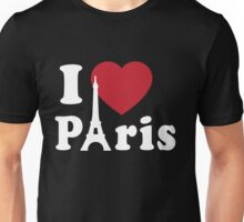 I Love (Heart) Paris Unisex T-Shirt