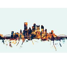 Pittsburgh Pennsylvania Skyline Photographic Print