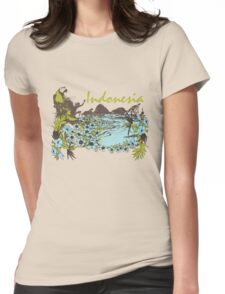 Indonesia Tropical Womens Fitted T-Shirt