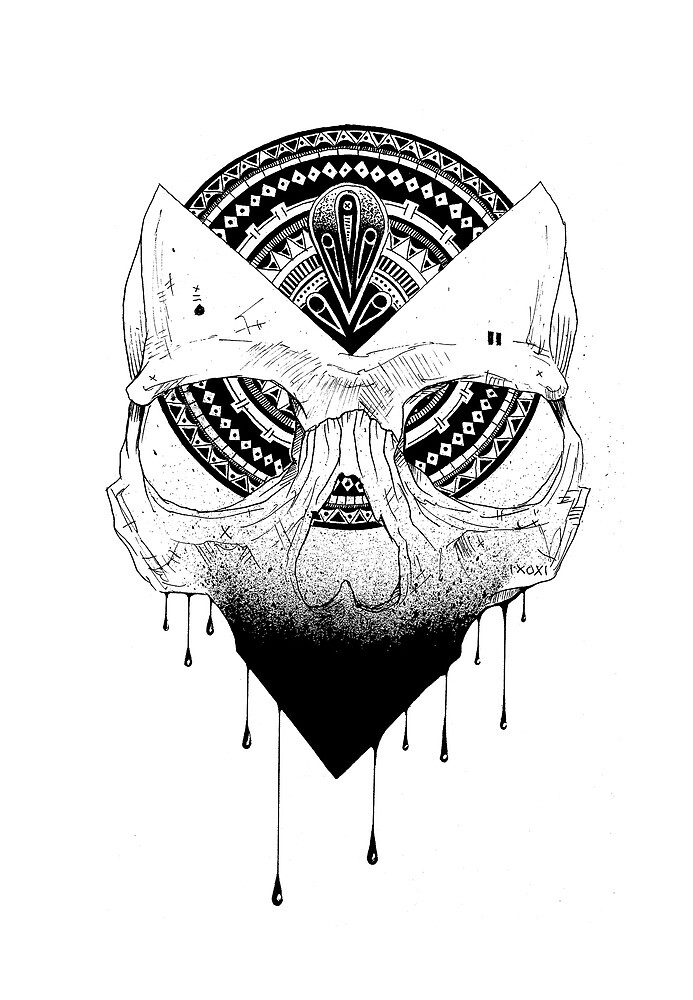 ENIGMATIC SKULL by MrFourFingers