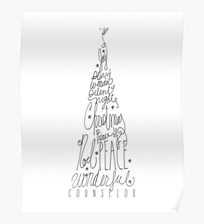 Christmas Tree Doodle Poster