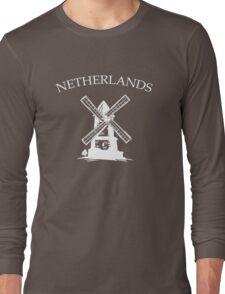 Netherlands Windmills Long Sleeve T-Shirt