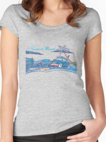 Newport Beach Scene Women's Fitted Scoop T-Shirt