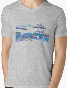 Newport Beach Scene Mens V-Neck T-Shirt