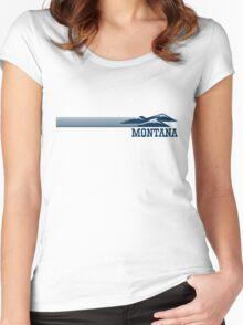 Retro Montana Skyline Women's Fitted Scoop T-Shirt