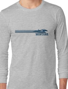 Retro Montana Skyline Long Sleeve T-Shirt