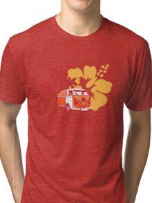 Retro San Diego Beach Scene Tri-blend T-Shirt