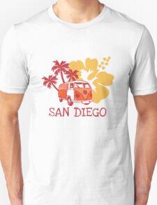 Retro San Diego Beach Scene Unisex T-Shirt