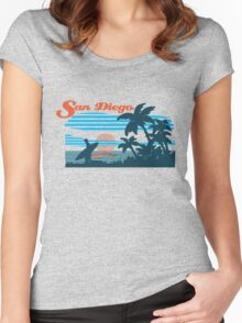 San Diego Surf Scene Women's Fitted Scoop T-Shirt