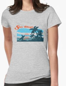 San Diego Surf Scene Womens Fitted T-Shirt