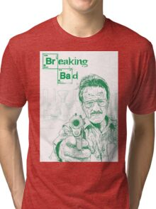 walter white gun breaking bad Tri-blend T-Shirt