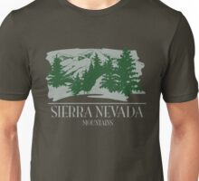 Sierrra Nevada Mountains Unisex T-Shirt